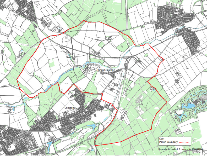 Kings Clipstone Parish Map